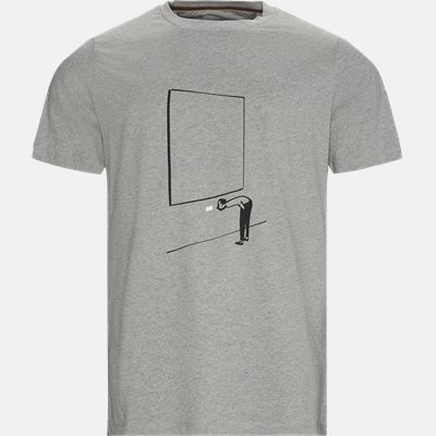 Regular fit | T-shirts | Grå